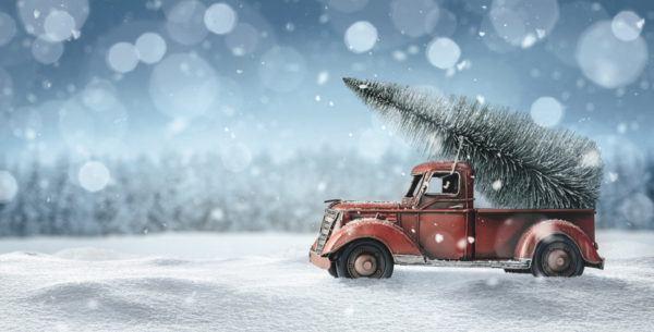 Tarjetas de navidad coche