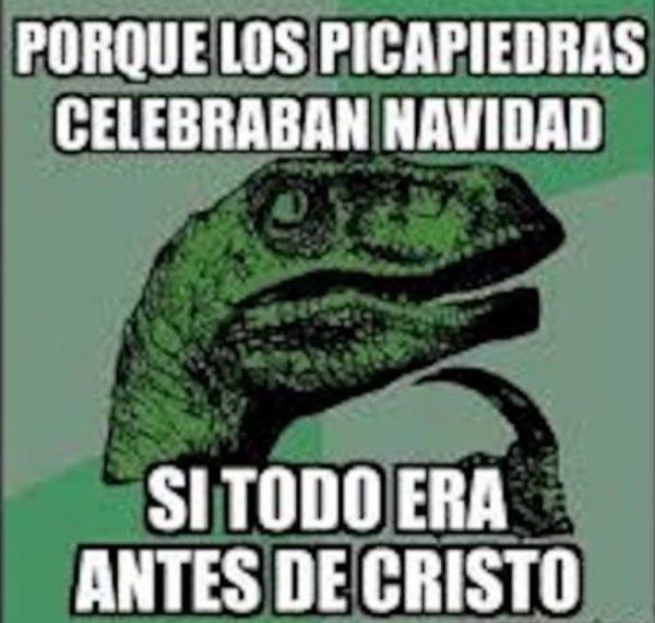 meme navidad de velociraptor