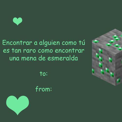 Frase de amor de Minecraft
