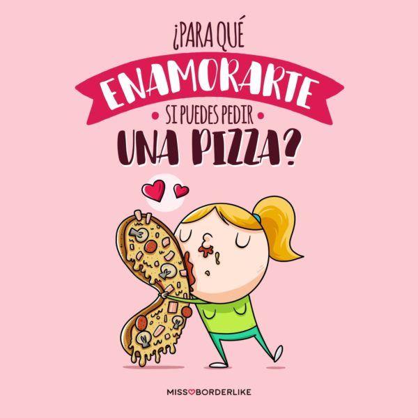 Frase San Valentín de pizza