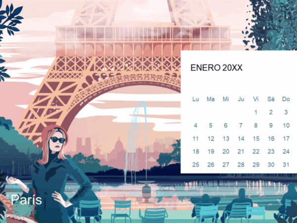 Cómo crear nuestro calendario en Word París Plantillas