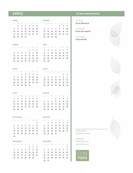 Cómo crear nuestro calendario en Word Propiedades