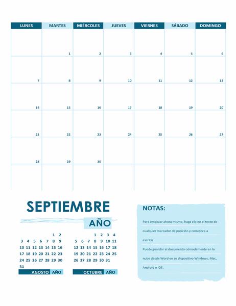 Cómo crear nuestro calendario en Word Predeterminados
