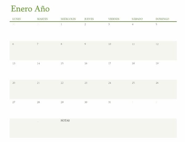 Cómo crear nuestro calendario en Word Tamaño