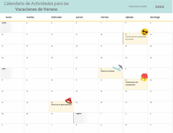 Cómo crear nuestro calendario en Word Templates
