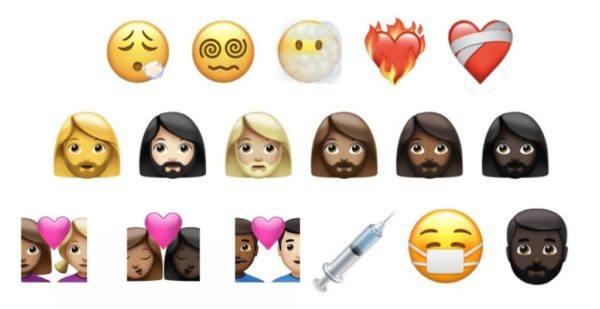 Nuevos emojis para 2022 caritas corazones