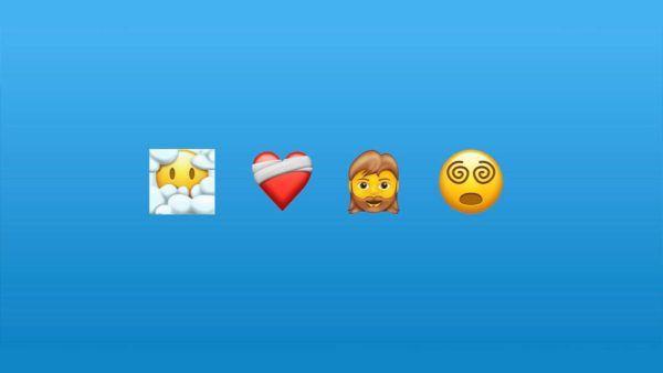Nuevos emojis para 2022 novedades fondo azul