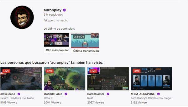 Cuales son los mejores canales de twitch en habla hispana AURONPLAY
