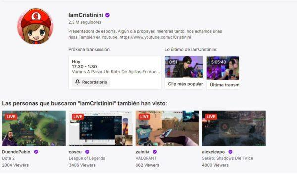 Cuales son los mejores canales de twitch en habla hispana IAMCRISTINI