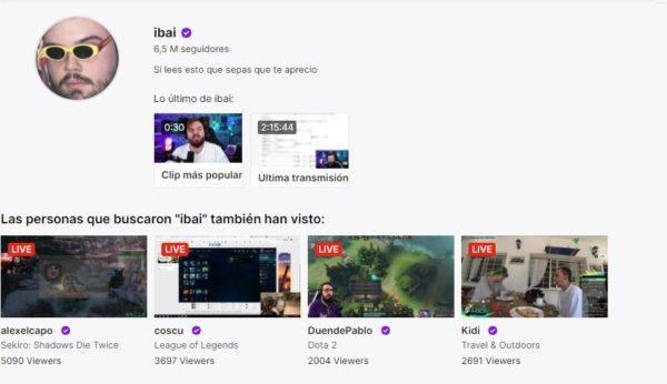 Cuales son los mejores canales de twitch en habla hispana IBAI