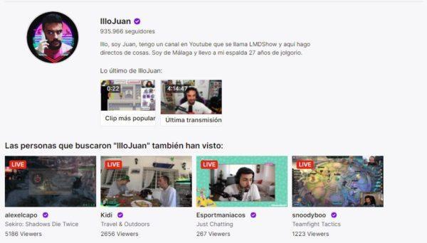 Cuales son los mejores canales de twitch en habla hispana ILLOJUAN