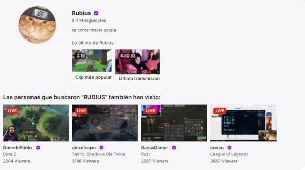 Cuales son los mejores canales de twitch en habla hispana RUBIUS