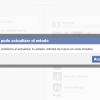 Facebook impide actualizar el estado