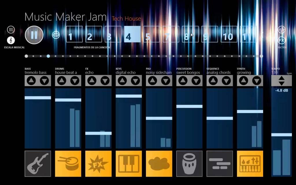 como-descargar-music-maker-en-espanol-interfaz-programa