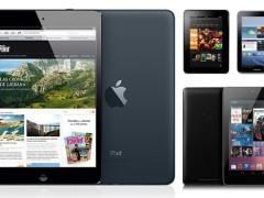 La comparativa entre el iPad mini, la Nexus 7 y el kindle fire HD