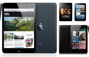 La comparativa entre el iPad mini, la Nexus 7 y el kindle fire HD
