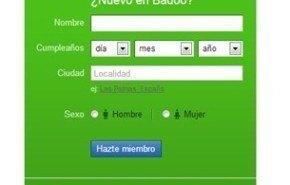 Crear una cuenta de Badoo