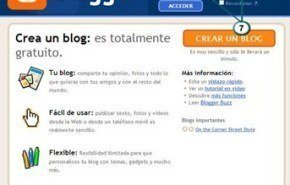 Crear cuenta de Blogger