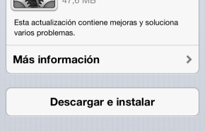 Actualización iOS 6: Versión 6.0.1