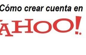 Crear cuenta correo Yahoo