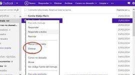 Cómo borrar-eliminar mensajes en Outlook (Hotmail)