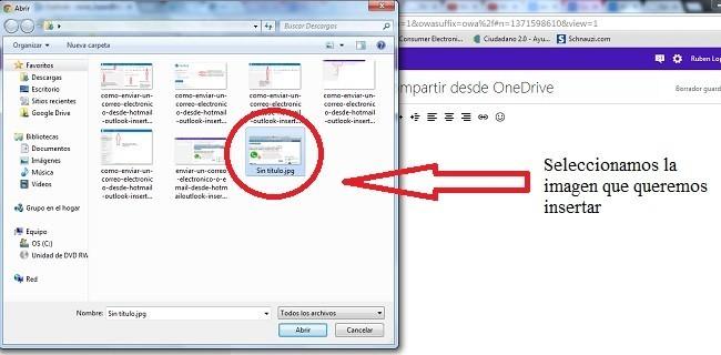 como-enviar-un-correo-electronico-desde-hotmail-outlook-insertando-adjuntando-archivos-imagenes-y-compartir-desde-onedrive-seleccionamos-imagen-para-insertar