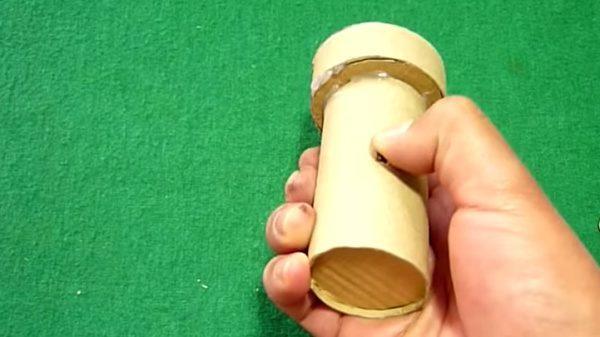 lampara tubo carton