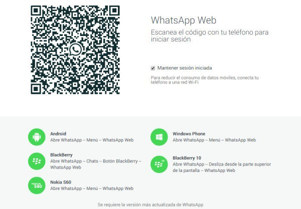 WhatsApp Web en Safari
