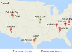 Ciudades con Google Fiber