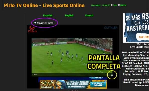 Ver partidos online con PirloTv gratis