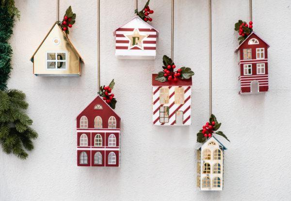 Tarjetas de navidad casas