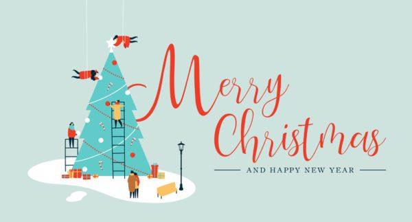 Tarjetas de navidad merry