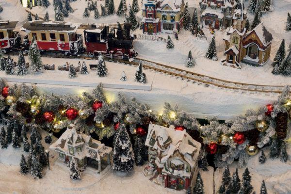 Tarjetas de navidad tren