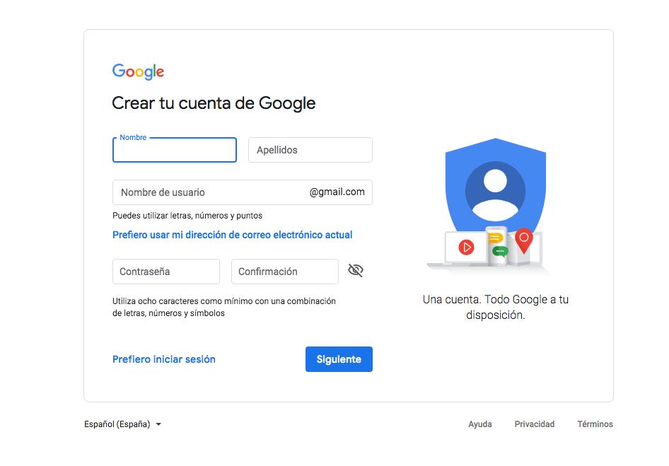 Cómo crear una cuenta de correo Gmail - Techlosofy.com